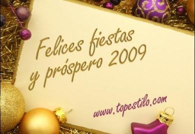 Felices fiestas y próspero 2009