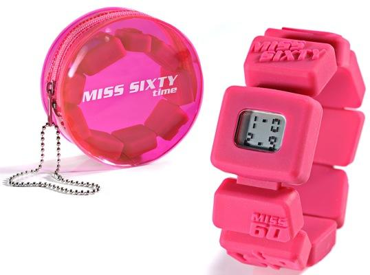 Reloj geométrico de Miss Sixty