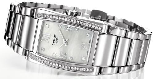Reloj de acero y diamantes de Tissot