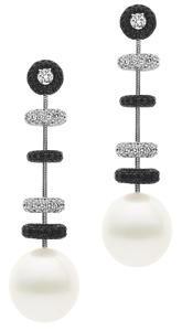 Diamantes y perlas navideñas