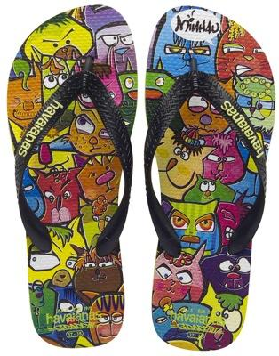 Shoes art by Havaianas