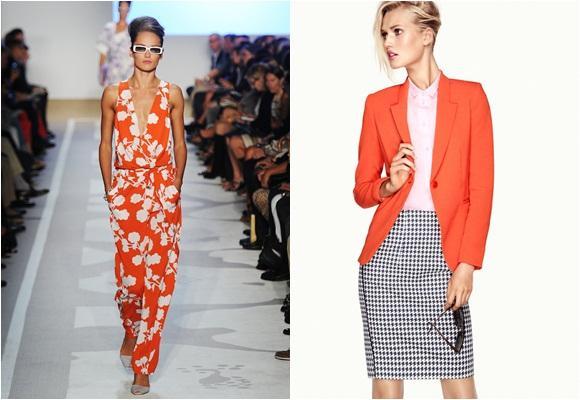 Cómo combinar el naranja, color del año 2012