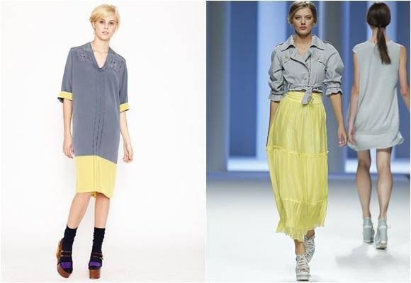 Gris y amarillo:  una combinación muy formal