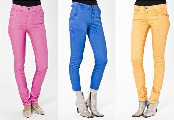 Pantalones de colores vivos: vaqueros o chinos, ¡tú eliges!