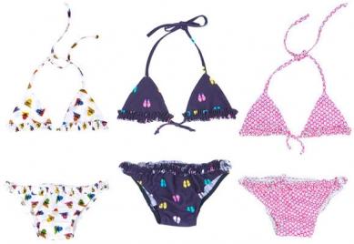 Bikinis para niños y niñas, de Crocs