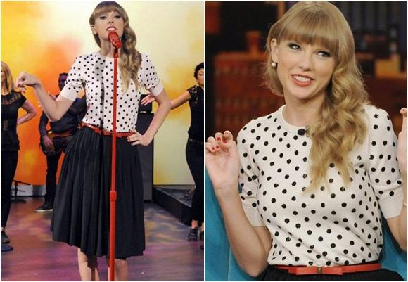 Taylor Swift impone el estilo retro