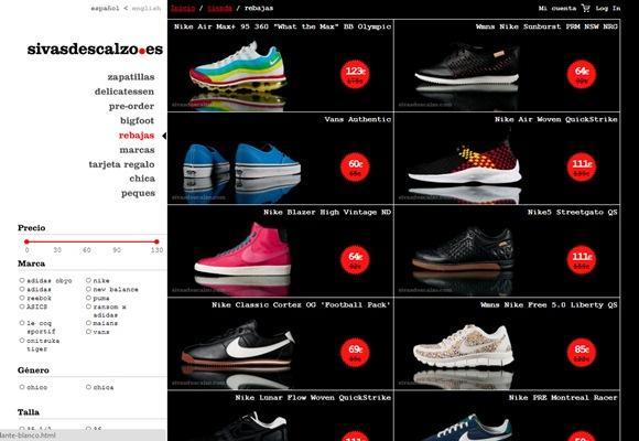 Compras de zapatos a precios imbatibles