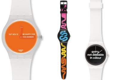 Mensajes en la muñeca de Swatch