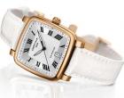 Elegante reloj blanco