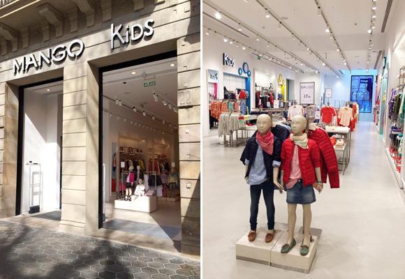 Tienda Mango Kids en Barcelona
