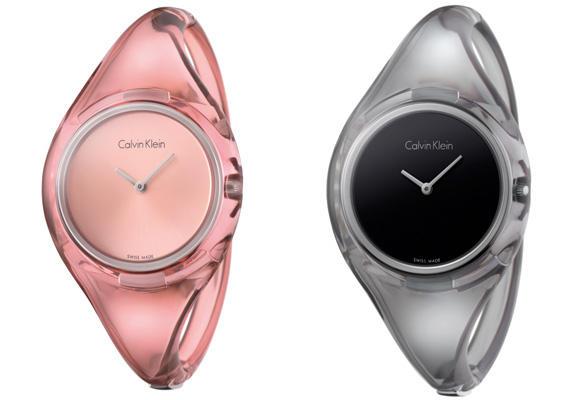 Relojes translucidos de Calvin Klein
