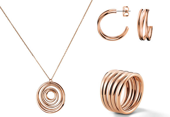 Joyas geométricas de Calvin Klein